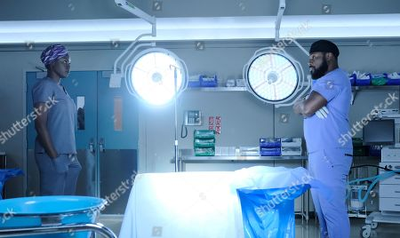 Shaunette Renee Wilson as Mina Okafor and Malcolm-Jamal Warner as Dr. AJ Austin