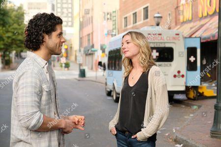 Miles Gaston Villanueva as Dr. Alec Shaw and Emily VanCamp as Nicolette Nevin