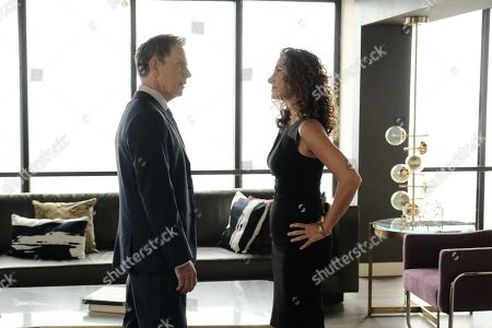 Bruce Greenwood as Randolph Bell and Melina Kanakaredes as Lane Hunter