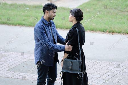 Manish Dayal as Devon Pravesh and guest star Jenna Dewan as Julian Lynn