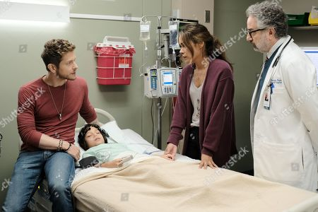 Matt Czuchry as Conrad Hawkins, Evan Whitten as Henry Barnett, Daniella Alonso as Zoey Barnett and Paul Schackman as Dr. Todd Eckart