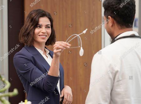 Jenna Dewan as Julian Lynn and Manish Dayal as Devon Pravesh