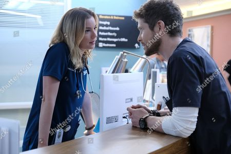 Emily VanCamp as Nicolette Nevin and Matt Czuchry as Conrad Hawkins