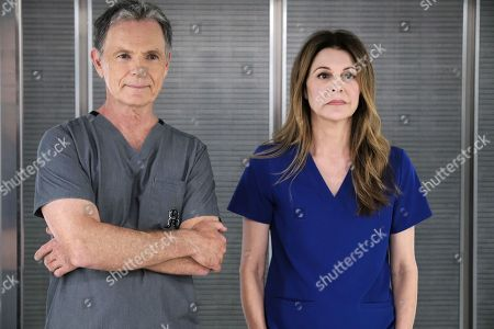 Bruce Greenwood as Randolph Bell and Jane Leeves as Dr. Kitt Voss