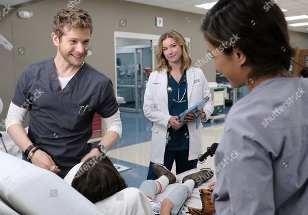 Stock Image of Matt Czuchry as Conrad Hawkins and Emily VanCamp as Nicolette Nevin and Daniella Alonso as Zoey Barnett