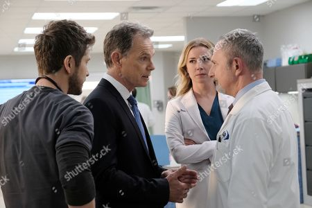 Matt Czuchry as Conrad Hawkins, Bruce Greenwood as Randolph Bell, Emily VanCamp as Nicolette Nevin and Andy Milder as Dr. Stefan Kisic