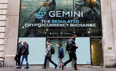 Editorial photo of Cryptocurrency Gemini Advertising in New York, USA - 18 Jan 2019