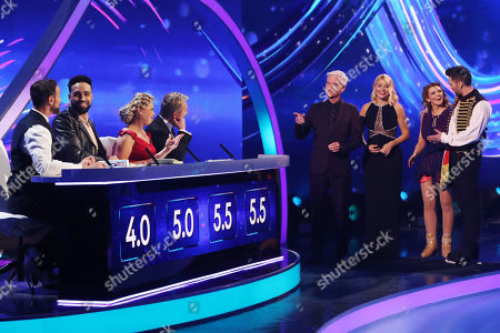 Jason Gardiner, Ashley Banjo, Jayne Torvill and Christopher Dean, Phillip Schofield and Holly Willoughby, Jane Danson and Sylvain Longchambon