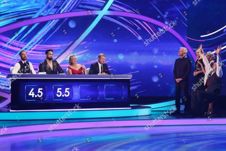 Jason Gardiner, Ashley Banjo, Jayne Torvill and Christopher Dean, Phillip Schofield and Holly Willoughby, Brian McFadden and Alex Murphy