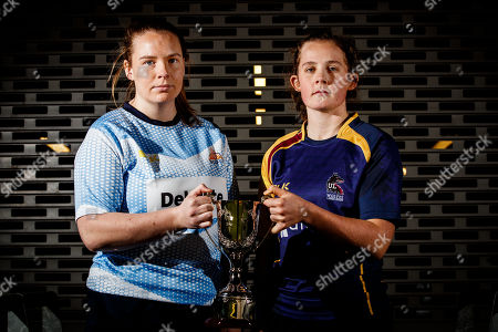 Pictured at today's launch is Ciara McDonnell, DCU and Enya Breen, UL