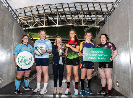 Pictured at today's launch is (L-R) Sarah Glynn, UCD, Ciara McDonnell, DCU, Chairperson of SSI, Carmel Lynch, Meaghan Kenny, IT Carlow, Enya Breen, UL and Ellie Dillane, NUIG