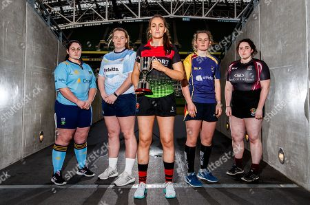 Pictured at today's launch is (L-R) Sarah Glynn, UCD, Ciara McDonnell, DCU, Meaghan Kenny, IT Carlow, Enya Breen, UL and Ellie Dillane, NUIG