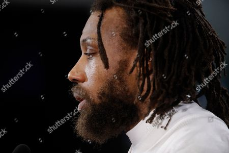 Kansas City Chiefs defensive back Eric Berry talks to the media after a workout, in Kansas City, Mo. The Chiefs host the New England Patriots in the NFL 's AFC football championship game on Sunday