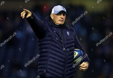 Edinburgh vs Montpellier. Montpellier head coach Vern Cotter before the game