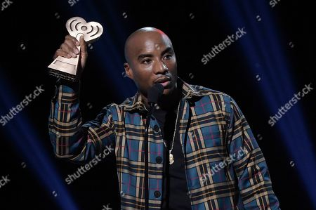 Charlamagne tha God accepts the award for Best Multicultural Podcast during the 2019 iHeartRadio Podcast Awards at the iHeartRadio Theater on Friday, Jan.18, 2019, in Burbank, Calif