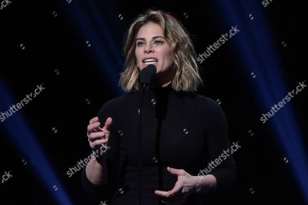 Jillian Michaels speaks onstage during the 2019 iHeartRadio Podcast Awards at the iHeartRadio Theater on Friday, Jan.18, 2019, in Burbank, Calif