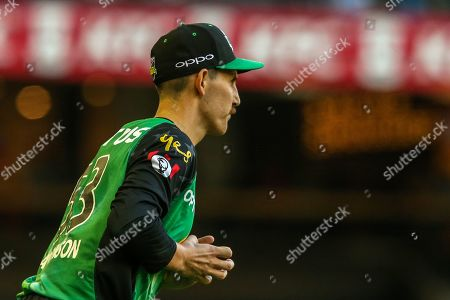 Nic Maddinson of Melbourne Stars takes a catch to dismiss Tom Cooper of Melbourne Renegades during the Big Bash League match between Melbourne Renegades and Melbourne Stars at the Marvel Stadium, Melbourne. Picture by Martin Keep