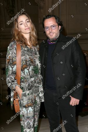 Stock Picture of Alexandre de Betak and his wife Sofia Sanchez de Betak in the front row