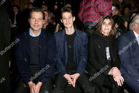 Laurent Lafitte, Pierre Niney and Carine Restoin-Roitfeld in the front row