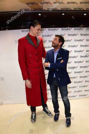 Editorial photo of Francesco Smalto presentation, Fall Winter 2019, Paris Fashion Week Men's, France - 15 Jan 2019