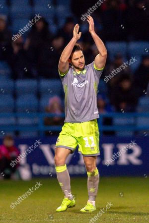 Stock Image of Walsall midfielder Matt Jarvis (11) during the EFL Sky Bet League 1 match between Gillingham and Walsall at the MEMS Priestfield Stadium, Gillingham