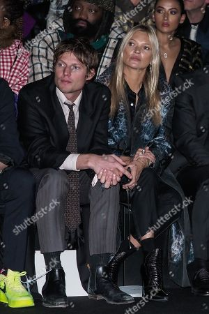 Count Nikolai von Bismarck and Kate Moss in the front row