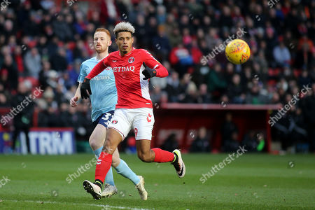 Lyle Taylor of Charlton Athletic in action during Charlton Athletic vs Accrington Stanley, Sky Bet EFL League 1 Football at The Valley on 19th January 2019