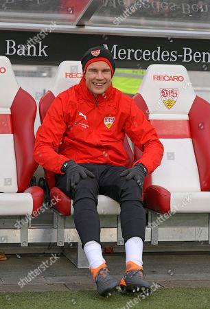 19.01.2019, Football 1. Bundesliga 2018/2019, 18.  match day, VfB Stuttgart - Mainz 05, Daimlerstadium Stuttgart. Holger Badstuber (Stuttgart) substitution bench.