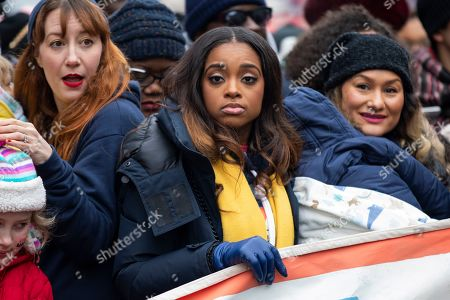 Stock Picture of Co-president of the 2019 Women's March Tamika Mallory (C) prepares to walk down Pennsylvania Avenue for the organization's third annual protest against the policies of US President Donald J. Trump in Washington, DC, USA, 19 January 2019. Mallory has come under scrutiny for her association with Nation of Islam leader Louis Farrakhan, who is widely known for making anti-semitic comments.