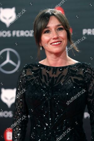 Lola Duenas, nominated to 'Best leading actress' for her role in Spanish movie 'Viaje al cuarto de una madre' attends the 6th Feroz Awards 2018 held at the Bilbao Arena pavilion on Bilbao, northern Spain, 19 January 2019. The Premios Feroz are Spainish film awards founded in 2013 by the Spanish Cinematographic Informers Association.