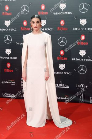 Sandra Escacena attends the Feroz Awards 2019 ceremony held at the Bilbao Arena pavilion on Bilbao, northern Spain, 19 January 2019. The Premios Feroz are Spainish film awards founded in 2013 by the Spanish Cinematographic Informers Association.