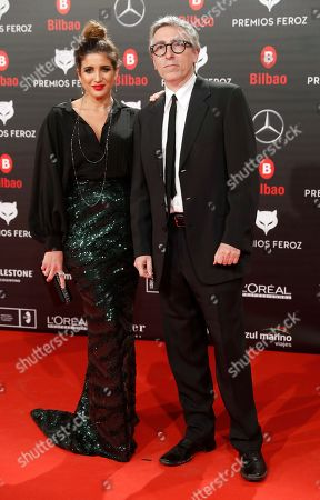 Lucia Jimenez (L) and Spanish filmmaker David Trueba (R) attend the Feroz Awards 2019 ceremony held at the Bilbao Arena pavilion on Bilbao, northern Spain, 19 January 2019. The Premios Feroz are Spainish film awards founded in 2013 by the Spanish Cinematographic Informers Association.