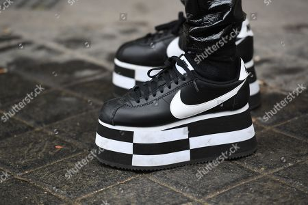 best service 230ce 14c6d Shoes By Comme Des Garcons X Nike Cortez Stock Pictures ...