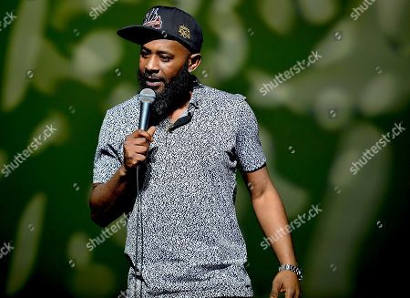 Karlous Miller performs on stage
