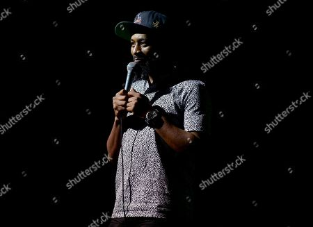Stock Picture of Karlous Miller performs on stage