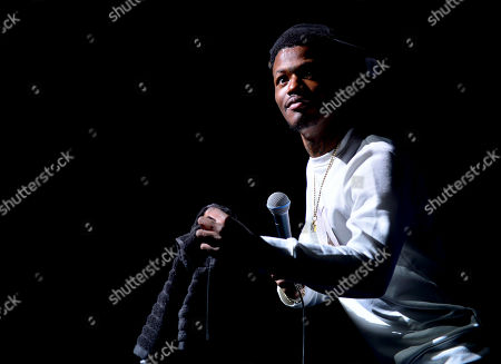 Stock Picture of DC Young Fly performs on stage