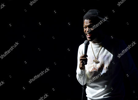 Stock Image of Karlous Miller performs on stage