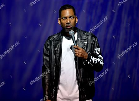 Tony Rock performs on stage