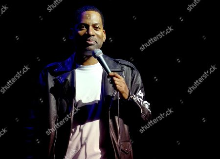 Stock Picture of Tony Rock performs on stage