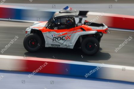 DTM driver Loic Duval competes for Team France during the Race of Champions Nations Cup in Foro Sol in Mexico City, . The Race of Champions is being held for the first time in Latin America