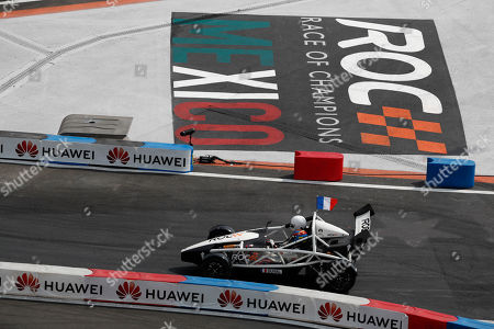 DTM driver Loic Duval races for Team France during the Race of Champions Nations Cup in Foro Sol in Mexico City, . The Race of Champions is being held for the first time in Latin America