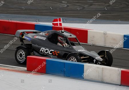 Le Mans driver Tom Kristensen, of Denmark, representing Team Nordic, competes in the final of the Race of Champions Nations Cup in Foro Sol in Mexico City, . The Race of Champions is being held for the first time in Latin America