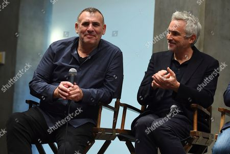 Graham King, Alfonso Cuaron. Graham King and Alfonso Cuaron at the 2019 Producers Guild of America Nominees Breakfast at The Skirball Cultural Center, in Los Angeles