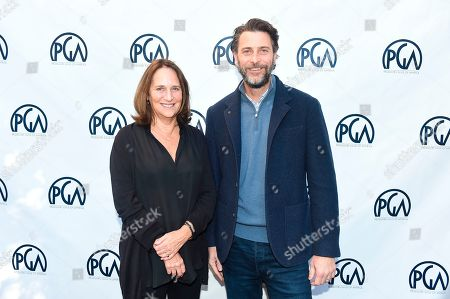 Lucy Fisher, Andrew Form. Lucy Fisher, PGA Co-President and Andrew Form at the 2019 Producers Guild of America Nominees Breakfast at The Skirball Cultural Center, in Los Angeles