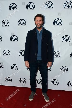 Andrew Form at the 2019 Producers Guild of America Nominees Breakfast at The Skirball Cultural Center, in Los Angeles
