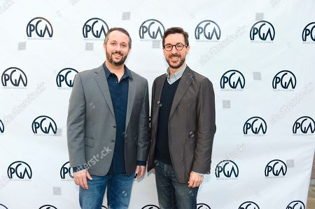 Sean McKittrick, Raymond Mansfield. Sean McKittrick and Raymond Mansfield at the 2019 Producers Guild of America Nominees Breakfast at The Skirball Cultural Center, in Los Angeles