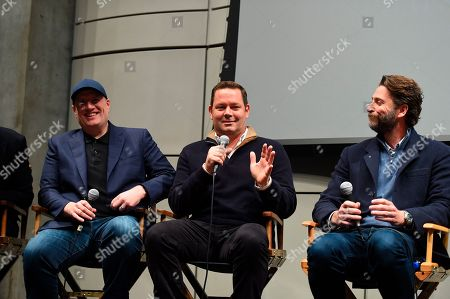 Kevin Feige, Kevin Messick, Andrew Form. Kevin Feige, Kevin Messick and Andrew Form at the 2019 Producers Guild of America Nominees Breakfast at The Skirball Cultural Center, in Los Angeles