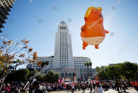 Editorial photo of Women's March in Los Angeles, USA - 19 Jan 2019