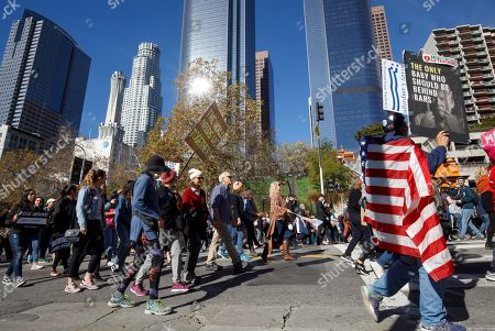 Editorial image of Women's March in Los Angeles, USA - 19 Jan 2019