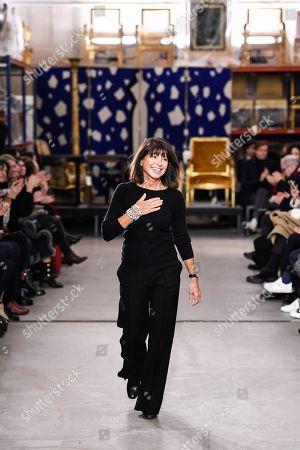 Veronique Nichanian on the catwalk